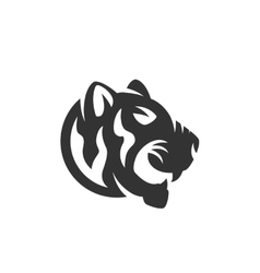 Tiger logo on white background vector image vector image