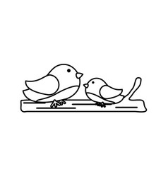 Two birds icon image vector