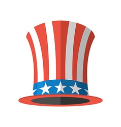 Uncle Sam hat on white background Cylinder Uncle vector image