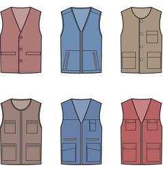 Work vest set vector