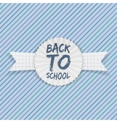 Back to school emblem on festive ribbon vector