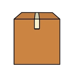 Carton box packing isolated icon vector