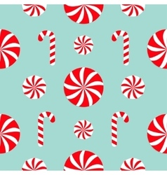 Seamless pattern decoration christmas candy cane vector