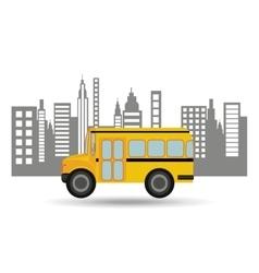bus school city background graphic vector image