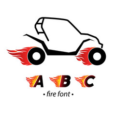 Fire and high speed letter vector