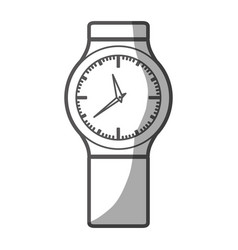 Grayscale silhouette of small male wristwatch vector