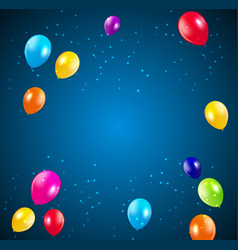 Happy birthday party background with flags and vector