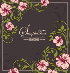 Elegant vintage floral invitation card vector
