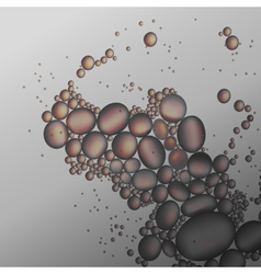 oil drops in the gray water background vector image