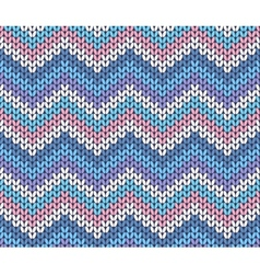 Fresh ethnic winter knitted abstract zigzag vector