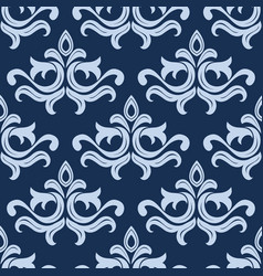 Retro light blue seamless pattern vector