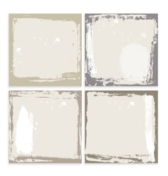 Abstract grunge frame set brown beige and white vector
