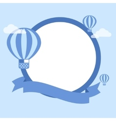 Cartoon hot air balloon - background vector