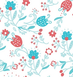 Floral seamless pattern for textile - simple cute vector image
