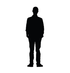 Man black silhouette vector