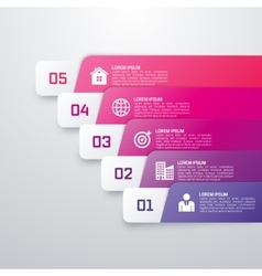Infographic template from colourful strips vector