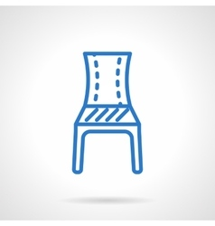 Blue chair line icon vector