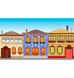 City town houses vector