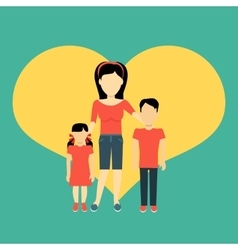 Mother with children banner concept vector