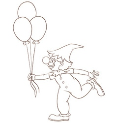 A simple sketch of a clown vector image