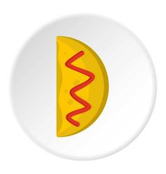 Asian dish icon circle vector
