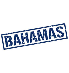 Bahamas blue square stamp vector