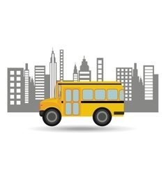 bus school city background graphic vector image