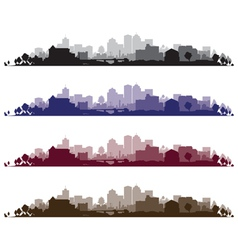 Cityscape wide set vector