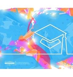 Creative academic cap art vector