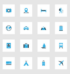Exploration colorful icons set collection of sail vector