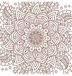 flower mandala decorative elements coloring book vector image vector image
