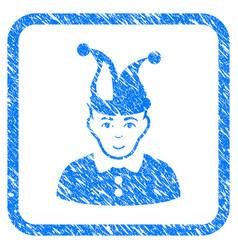 Fool framed stamp vector