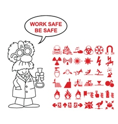 Hazard and danger Graphics vector image vector image