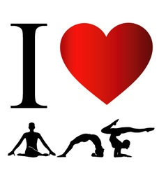 I love yoga and meditation vector