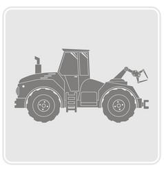 Icon with farm tractor vector