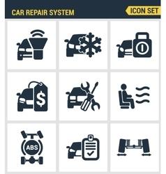Icons set premium quality of car repair system vector