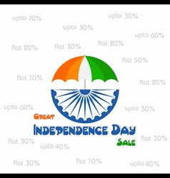 Independence Day sale greeting vector image vector image