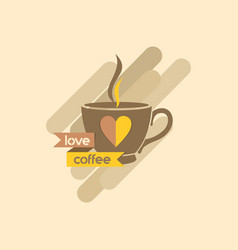 love coffee design logo vector image