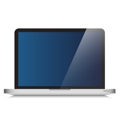 Modern laptop computer glass screen vector