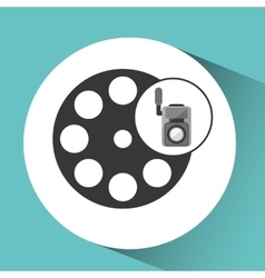 Movie video camera film reel icon vector
