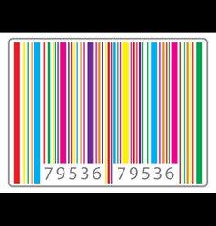 multi colored barcode vector image vector image