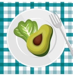 nutrition healthy food icon vector image vector image