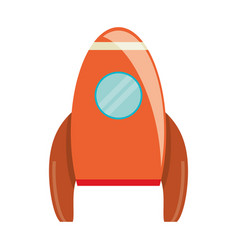 Orange rocket transport exploration image vector