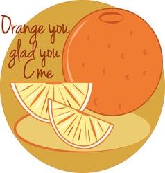Orange you glad vector