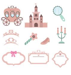 princess design elements princess design elements vector image