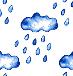 Rainy clouds seamless pattern vector