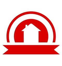 red real estate symbol vector image