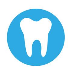 Round icon tooth cartoon vector