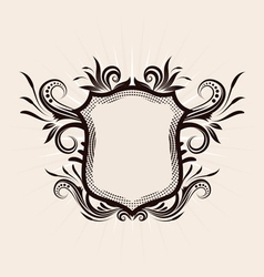 Shield Decorative ornament vector image
