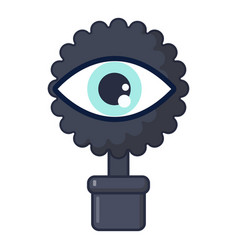spy eye icon cartoon style vector image
